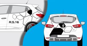 Stickers Renault clio RS 16 (PARADISE Déco)