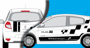 Stickers Renault Clio Cup R2 Rally edition (PARADISE Déco)