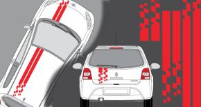 Stickers Renault Twingo bandes GT (PARADISE Déco)