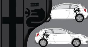 Stickers Alfa Romeo Mito logo lateral (PARADISE Déco)
