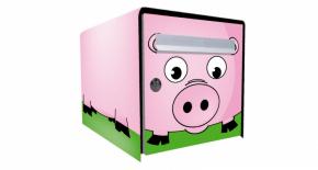 Stickers face avant boite cochon (PARADISE Déco)
