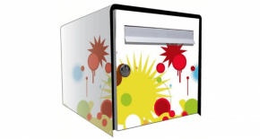 Stickers face avant boite graphic (PARADISE Déco)