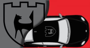 Stickers VW cox toit logo wolfburg (PARADISE Déco)