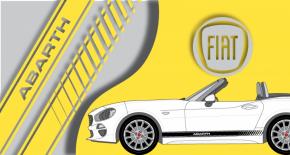 Stickers Fiat 124 spider abarth latéral (PARADISE Déco)