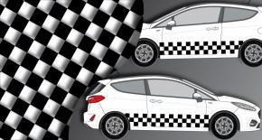 Stickers rallye kart cross kit racing damier (PARADISE Déco)