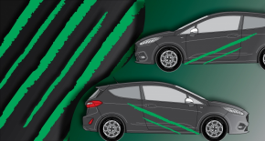 Stickers rallye kart cross kit griffe (PARADISE Déco)