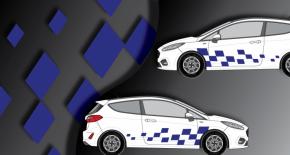 Stickers rallye kart cross kit rallye carré (PARADISE Déco)