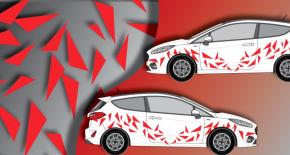 Stickers rallye kart cross kit triangle (PARADISE Déco)