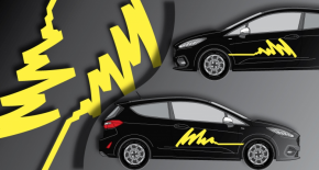 Stickers rallye kart cross kit feutre (PARADISE Déco)