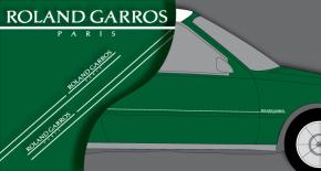 Stickers peugeot 205 Rolland Garros (PARADISE Déco)