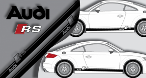 Stickers audi rs bande lateral (PARADISE Déco)