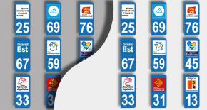 stickers plaques d'immatriculation nouvelles région (PARADISE Déco)