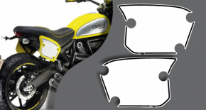 Stickers porte numéro ducati scrambler full throttle (PARADISE Déco)