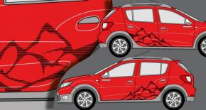 Stickers Dacia Striped Mountain (PARADISE Déco)