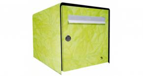 Stickers boite aux lettres papier froissé vert (PARADISE Déco)