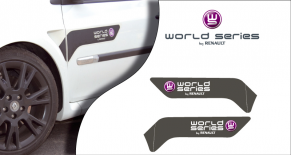 Stickers Renault Clio world series (PARADISE Déco)