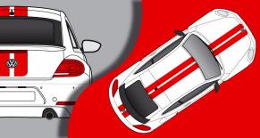 Stickers VW COX RS (PARADISE Déco)