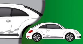 Stickers VW COX race (PARADISE Déco)