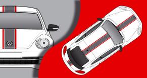 Stickers VW COX sport (PARADISE Déco)