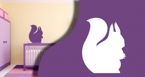 Stickers ecureuil (PARADISE Déco)