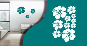 Stickers hibiscus3 (PARADISE Déco)