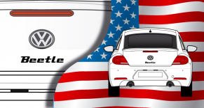 Stickers VW Logo beetle (PARADISE Déco)