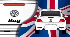 Stickers VW logo bug (PARADISE Déco)