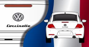 Stickers VW logo coccinelle (PARADISE Déco)