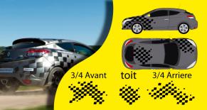 Stickers Renault megane N4 (PARADISE Déco)