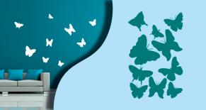 Stickers papillons multi (PARADISE Déco)