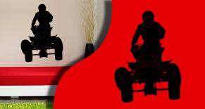 Stickers silhouette quad 1 (PARADISE Déco)