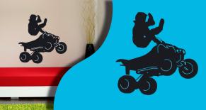 Stickers silhouette quad 3 (PARADISE Déco)