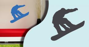 Stickers snowboard (PARADISE Déco)