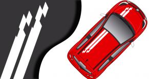 Stickers Renault Twingo bande race (PARADISE Déco)