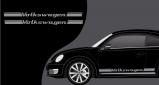 Stickers VW cox vintage (PARADISE Déco)