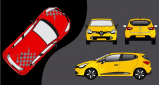 Stickers Renault clio 4 cup (PARADISE Déco)