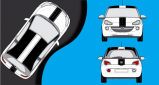 Stickers Opel adam bandes racing (PARADISE Déco)