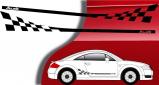 Stickers latéral damier Audi TT (PARADISE Déco)