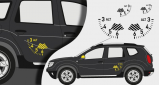 Stickers Dacia duster air (PARADISE Déco)