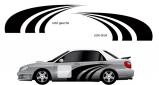 Stickers rallye kart cross kit courbe (PARADISE Déco)