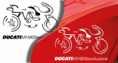 Stickers ducati mh 900 evo (PARADISE Déco)