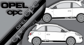 Stickers opel OPC bande lateral (PARADISE Déco)