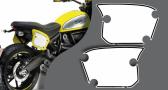 Stickers porte numéro ducati scrambler full throttle (PARADISE Déco)