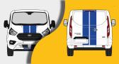 kit ford transit custom bandes capot et portes arrieres (PARADISE Déco)