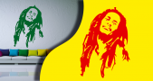 Stickers bob marley (PARADISE Déco)