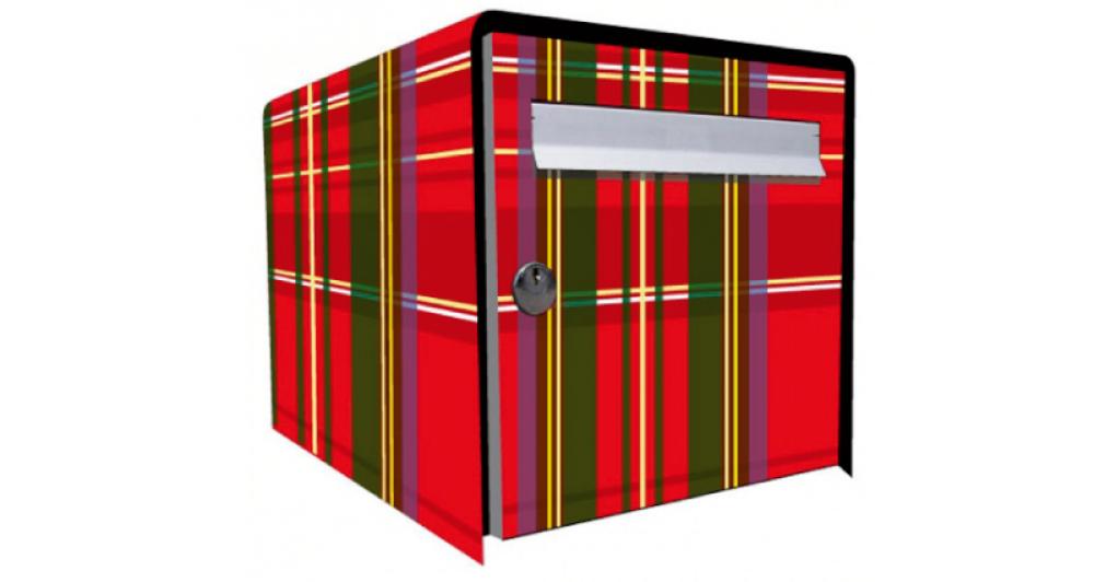 tous copie stickers boite aux lettres ecossais. Black Bedroom Furniture Sets. Home Design Ideas