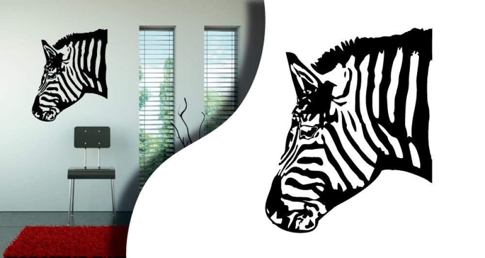 Tous stickers zebre for Miroir zebre