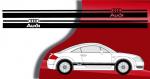 Stickers bandes latérales Audi TT phase 1 (PARADISE Déco)