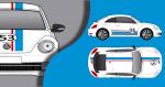 Stickers VW cox Choupette 53 (PARADISE Déco)