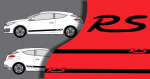 Stickers Renault Megane Bandes lateral RS (PARADISE Déco)